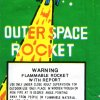 Outer space rocket green